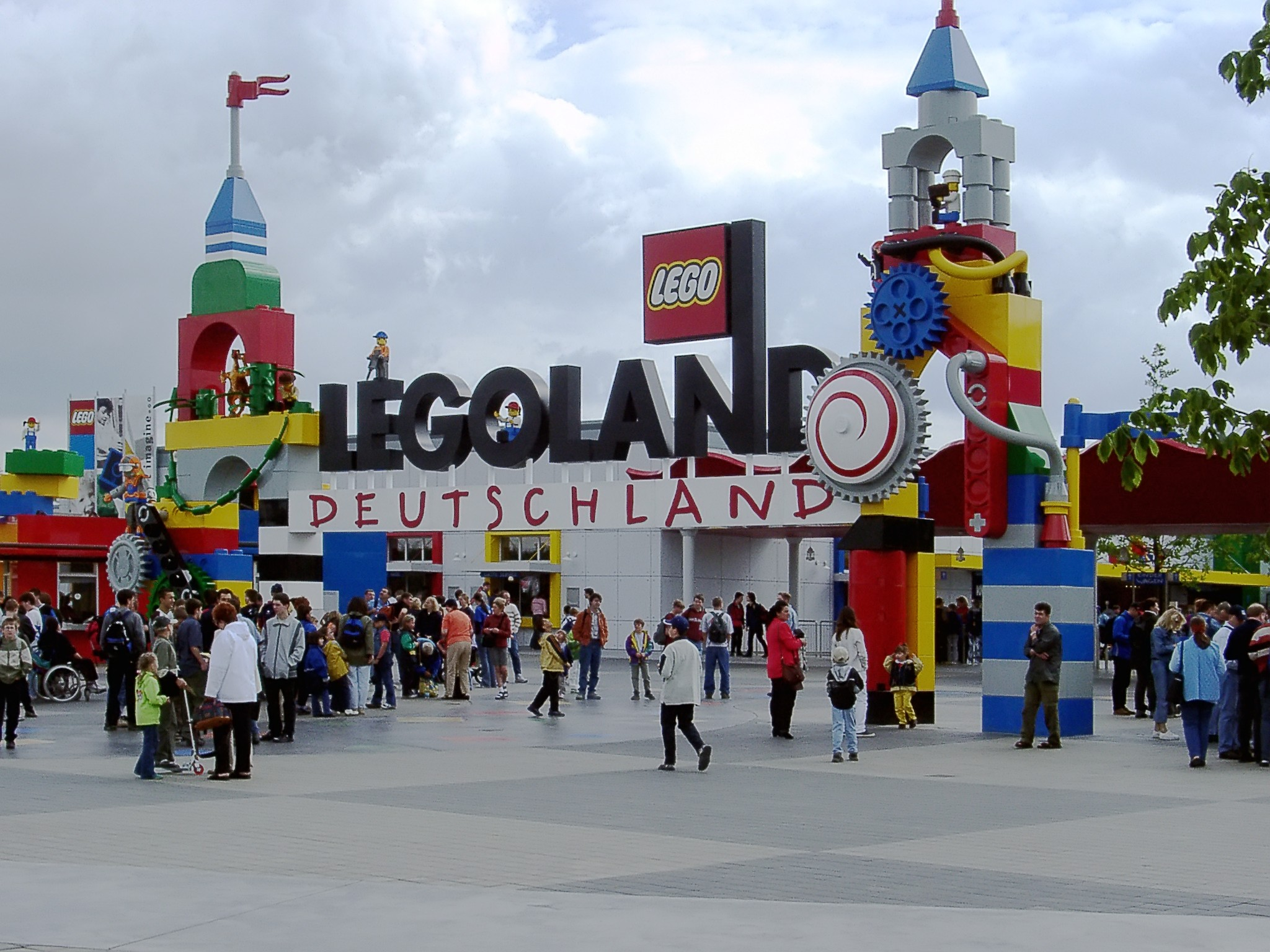 The entrance to Legoland Deutschland